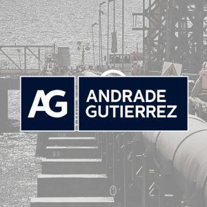 Logo Andrade Gutierrez cliente consultoria palestra mentoria