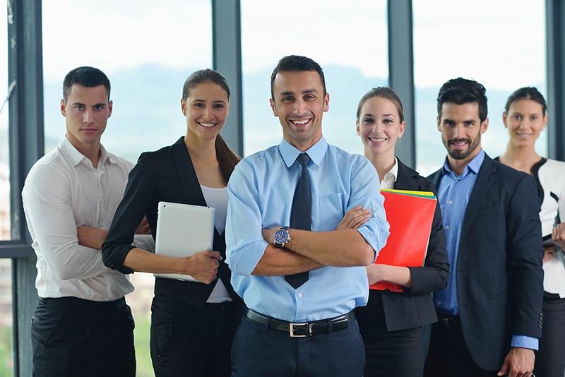 grupo de executivos